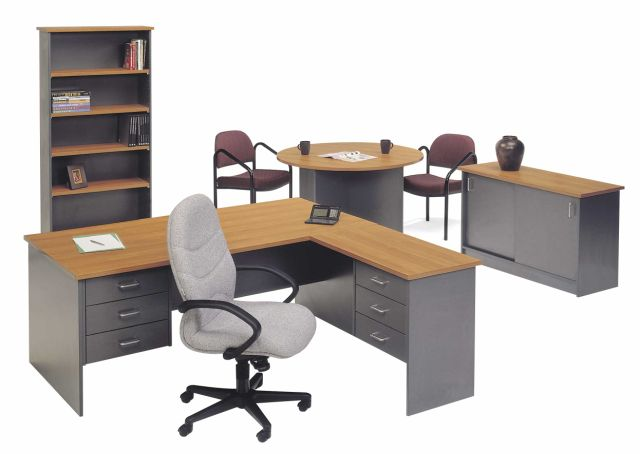 ship shape desk with return onsite office office