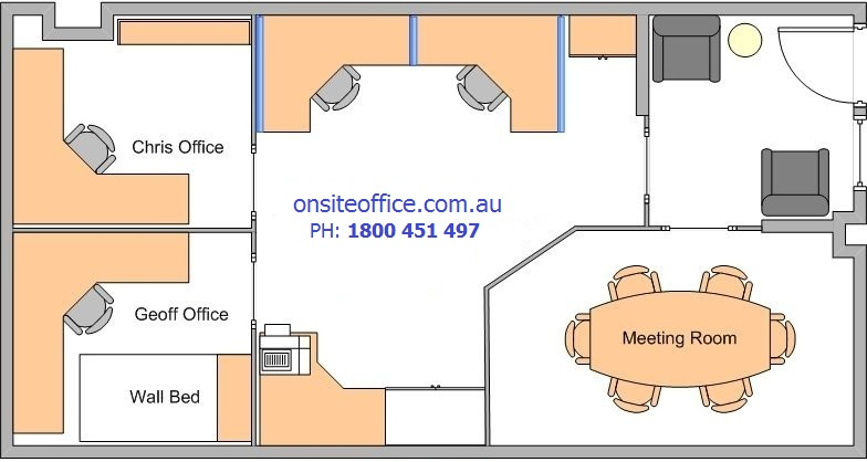 Floor plan office layout 1 onsite office office for New office layout