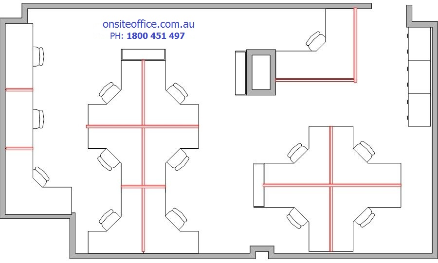Floor plan office layout 2 onsite office office for Office desk layout planner