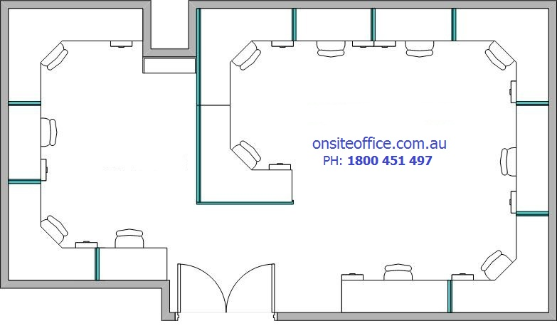Floor plan office layout 3 onsite office office for Design office layout online free