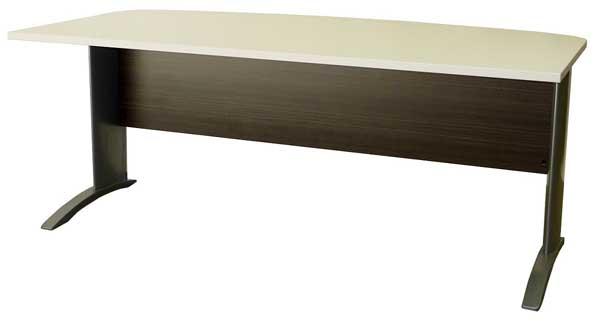 Bronte Bow Front Desk Metal Legs