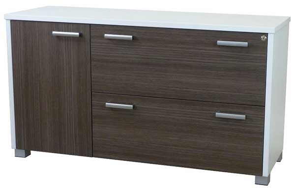 Bronte Lateral Filing Credenza 1 Door + 2 Lateral Drawers