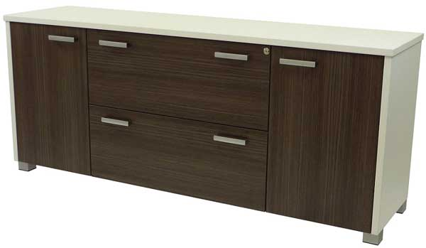 Bronte Lateral Filing Credenza 2 Doors + 2 Lateral Drawers